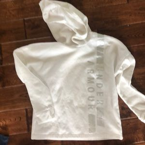 Under Armour high neck, hooded sweatshirt